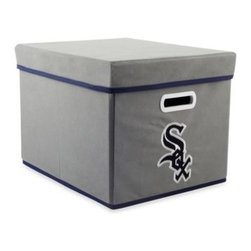 Owner's Box, Llc - MLB Chicago White Sox Fabric Storage Cube with Cover - Keep your home or office organized with these stackable cubes. These cubes come with covers and are designed to fit both letter and legal sized file folders. Perfect for any room, these cubes feature the logo of your favorite MLB team.