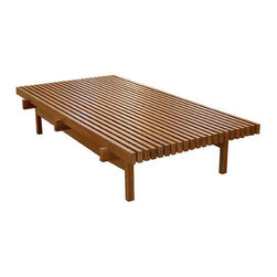 "Ripas - ""Ripas"" coffee table with its handsome, slatted design, is available in a variety of FSC-certified woods. Part of the Etel collection."