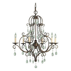 Murray Feiss Crystal Themed 6-Light Chandelier