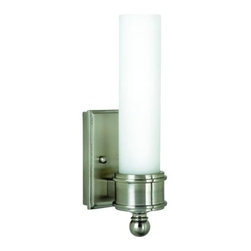 House of Troy - House of Troy WL601-SN Decorative Wall Sconce In Satin Nickel With White Glass S - House of Troy WL601-SN Decorative Wall Sconce In Satin Nickel With White Glass Shade