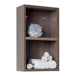 Fresca - Fresca Small Linen Cabinet w/Two Open Storage Shelves - Grey Oak - This small sized side cabinet features two open storage shelves. This side cabinet is great to add to any vanity to offer just a little more space.