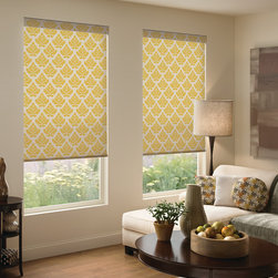 Boutique Dwell Roller Shades - Offered in an eclectic assortment of patterns and colors, our Dwell Roller Shades are a versatile window treatment that can complement any design scheme. These contemporary color combinations give each shade a unique feel in addition to their stellar functionality. Roller shades are noted for their easy operation and minimalist appearance. When raised, the fabric retreats neatly to offer a clean and polished look. The product comes with built-in cordless features and includes a fabric wrapped bottom rail. Our functional and fabulous Dwell Roller Shades also filter light and allow complete control over your privacy.