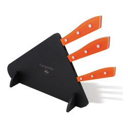 Coltellerie Berti - Compendio 3pc Knife Set - Orange Lucite - Coltellerie Berti - 3 pc. kitchen knife set.
