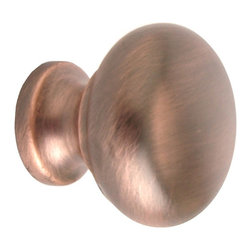 Q.M.I. - Round Knob in Italian Bronze (Set of 10) - Includes mounting screws. Decorative. Easy to install. Limited lifetime warranty. Made from zinc. 1.25 in. Dia. x 1 in. HAdd the finishing touches to your new vanity or cabinets or instantly update the look of your room with this hardware. Our cabinet knobs beautifully compliment any homes decor.