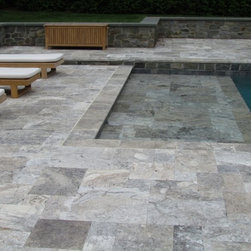 """4 sz. Pattern Set Travertine - Available to order directly from BV Tile & Stone. Contact us today (714) 772-7020. Retail and Wholesale. 4sz. Pattern Sets include (8""""x8"""" - 8""""x16"""" - 16""""x16"""" - 16""""x24"""" )"""