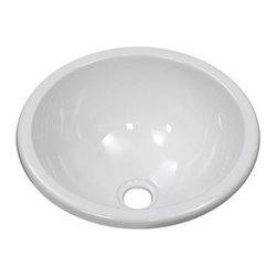 """Lyons Industries - Deluxe Bar Sink - Features: -Bar sink. -Deluxe Sinks collection. -High gloss finish. -Durable high strength acrylic construction. -Installation type: Drop-in. -Deck mount into countertop. -7.25"""" Deep sink bowl. -Single bowl. -Fiber glass insulation for increased temperature stability. -Round shape. -Three simple tab and mounting clip system. -Easy to clean. -Easy to install. -Made in USA. -Manufacturer provides 3 years warranty for residential and 1 year for commercial. Specifications: -Drain opening size: 1.5"""". -Overall dimensions: 7.25"""" H x 12.75"""" W x 12.75"""" D."""