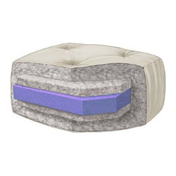 Wolf Corporation - 6 in. Futon Mattress (Queen In Buff) - Color: Queen In Buff2 in. high density foam core. Filled with premium cotton and poly fiber fill. Warranty: 5 years. Made from polyester, cotton and foam. No assembly required. Made in the USA. Full: 58 in. L x 54 in. W x 6 in. H (40 lbs.). Queen: 63 in. L x 60 in. W x 6 in. H (44 lbs.)