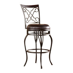 Holly and Martin - Winston Swivel Bar Stool - Accent your home with gorgeous, convenient seating. Scrollwork and sophisticated details unite in this elegant bar stool.