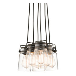 Modern Mason Jar Cluster Chandelier 5 Light -
