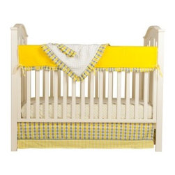 Simply Argyle 4 Piece Crib Set - Great for a home that needs cheerful, welcoming decor for boy and girl babies, the Simply Argyle 4 Piece Crib Set keeps it simple with classic argyle in yellow, grey, and white. Part of the Simply Argyle collection and also coordinates with the Argyle Giraffe collection. About Pam Grace CreationsPam Grace Creations was created by Pam Val, a loving wife and mother of four, in January of 2006. Pam had seven years of experience in the baby bedding and nursery decor industry from working with her sister to run their own baby product business. She brought this experience and knowledge of the industry to her own company, and Pam Grace Creations was born. Pam is committed to providing new parents a combination of style, affordability, and convenience, and to that end she created her Nursery-to-Go 10 piece baby bedding sets. These sets include everything parents need to outfit their new baby's room in a range of styles and color palettes at an affordable price--without having to hunt down their nursery items piece by piece.