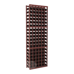 6 Column Standard Cellar Kit in Redwood with Cherry Stain + Satin Finish - Six columns for bottle storage is a perfect solution for 9 cases of wine. The modular format ensures you can expand storage without worrying about new racks lining up properly. We construct every rack to our industry-leading standards. You'll love our racks. Guaranteed.