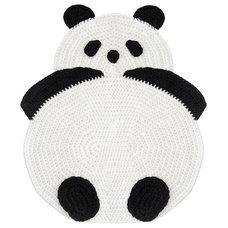 Contemporary Kids Rugs Crochet Panda Rug