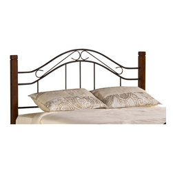 Hillsdale - Hillsdale Matson Headboard with Rails in Cherry and Black-Twin - Hillsdale - Headboards - 1159HTWR - Our Matson Bed offers the exceptional style of artistic design with an even more exceptional price to match. The Matson Bed boasts whimsically curving accents in a mixed media package including solid hardwood cherry-finished posts and elegant metalwork features on the headboard and footboard. Available in twin full queen and king sizes.