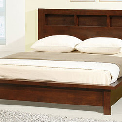 None - Creighton Walnut Cherry Queen-size Bed - Revamp the look of your bedroom with this classic-style queen-size bed from Creighton. Crafted from rubberwood, the bed features a cherry walnut finish that adds warmth to the room, and the wood-slated system eliminates the need for a box spring.