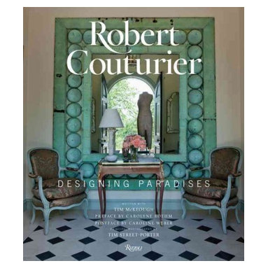 """Rizzoli International Publications - """"Robert Couturier: Designing Paradises"""" Hardcover - A passion for luxury and beauty propels the multifaceted work of acclaimed international architect and interior designer Robert Couturier. Robert Couturier's aesthetic is a dialogue between Old World elegance and contemporary design. His masterful approach effortlessly brings eras together, for example a Louis XVI commode with a 1960s lamp. Couturier's name has become synonymous with continental and international style, and he is known for composing adventurous rooms that have a witty flair. All his interiors extol the importance of how a home should stimulate the five senses, from the tactile feel of upholstery to the visual presentation of objects that leads a person through a space. The book opens with a tour of Couturier's country retreat in bucolic Kent, Connecticut. Composed of neoclassical-style pavilions, early American guesthouses, and beautiful gardens, the house features imaginative rooms that are filled with his collections of European art, furniture, and decorative objects. A selection of the designer's other projects-from smart contemporary apartments to romantic Mexican villas to a stately English manor-provides further inspiration."""
