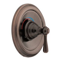 "Moen - Moen T2111ORB Oil Rubbed Bronze Posi-Temp Valve Trim Single-Function Cartridge - Moen T2111ORB is part of the Kingsley bath collection. Moen T2111ORB is a new bathroom decor style by Moen. Moen T2111ORB has an Oil Rubbed Bronze finish. Moen T2111ORB Posi-Temp valve only trim fits any MPact common valve system or MPact Posi-Temp 1/2"" valve available separately. Moen T2111ORB is part of the Kingsley bath collection with its traditional style combining classic antique look, with modern luxury. This collection delivers the best of both worlds. Moen T2111ORB valve trim includes single-function pressure balancing Cartridge. Moen T2111ORB is a single handle valve trim only, the handle adjusts temperature. Moen T2111ORB valve only single handle trim provides for ease of operation. Moen T2111ORB Posi-Temp pressure balancing valve maintains water pressure and controls temperature. Moen T2111ORB is approved by ADA. Oil Rubbed Bronze is an exclusive finish from Moen and provides style and durability. Moen T2111ORB metal lever handle meets all requirements ofADA ICC/ANSI A117.1 and ASME A112.18.1/CSA B-125.1. Lifetime Limited Warranty."