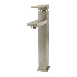 None - Sir Faucet 721 Single Lever Handle Vessel Faucet - This stylish Vessel faucet from Sir Faucet is a contemporary complement to your freestanding sink. This tall faucet features sharp,geometric styling and offers single-handle functionality.