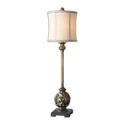 Uttermost - Uttermost 29291-1 Shahla Aged Golden Bronze Table Lamp - Uttermost 29291-1 Shahla Aged Golden Bronze Table Lamp