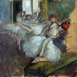 """Edgar Degas Ballet Dancers - 16"""" x 16"""" Premium Archival Print - 16"""" x 16"""" Edgar Degas Ballet Dancers premium archival print reproduced to meet museum quality standards. Our museum quality archival prints are produced using high-precision print technology for a more accurate reproduction printed on high quality, heavyweight matte presentation paper with fade-resistant, archival inks. Our progressive business model allows us to offer works of art to you at the best wholesale pricing, significantly less than art gallery prices, affordable to all. This line of artwork is produced with extra white border space (if you choose to have it framed, for your framer to work with to frame properly or utilize a larger mat and/or frame).  We present a comprehensive collection of exceptional art reproductions byEdgar Degas."""