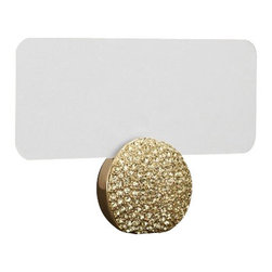 """L'Objet - L'Objet Pave Sphere Place Card Holders Gold - Modern in style yet traditional in essence, L'Objet Place Card Holders are an elegant addition to the table. Layered in 24K gold or platinum, the collection is rich in details, including hand-set Swarovski crystals and semi-precious gemstones. Set of 6.24k Gold-PlatingSwarovski Crystals: YellowMeasures: 2"""" x 2"""" , 5cm x 5cmIncludes: Place Cards (Set of 25); Refill available. Luxuriously Gift Boxed"""