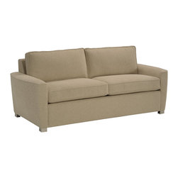 Lazar Industries - Harmony 2-Seater Sofa in Seastone Ecru - Harmony 2-Seater Sofa by Lazar Industries presents a transitional frame, with stately elegance enhanced by compact track arms featuring welted detail.