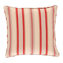 "Ballard Designs - Vintage Red Quilted Stripe Pillow Cover Only - 18"" - Coordinates with our Vintage Red Quilted Bird Pillow. 2200-gram cotton fill. Knife-edge. Luxurious feather down insert sold separately. The rich stripe motif of was inspired by a piece of vintage fabric from the Ballard library. Our Vintage Red Quilted Stripe Pillow Cover is made of soft 100% cotton and hand quilted in a double-diamond pattern for great depth and texture.Vintage Red Quilted Stripe Pillow Cover features: . . . ."