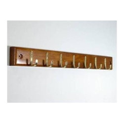 Proman Products - Home Essential Belt Hanger Bar in Walnut - Includes 7 belt hooks
