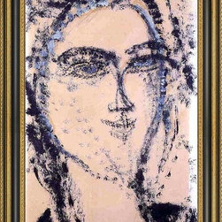 """Art MegaMart - Amedeo Modigliani Woman's Head - 18"""" x 27"""" Framed Premium Canvas Print - 18"""" x 27"""" Amedeo Modigliani Woman's Head framed premium canvas print reproduced to meet museum quality standards. Our Museum quality canvas prints are produced using high-precision print technology for a more accurate reproduction printed on high quality canvas with fade-resistant, archival inks. Our progressive business model allows us to offer works of art to you at the best wholesale pricing, significantly less than art gallery prices, affordable to all. This artwork is hand stretched onto wooden stretcher bars, then mounted into our 3 3/4"""" wide gold finish frame with black panel by one of our expert framers. Our framed canvas print comes with hardware, ready to hang on your wall.  We present a comprehensive collection of exceptional canvas art reproductions by Amedeo Modigliani."""