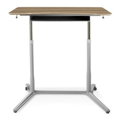 Jesper - Jesper Height Adjustable Standing Desk - Walnut - Designed to fit in wherever you need it to be-the ergonomic Standing desk can work as a freestanding desk at home or in an office, or within a systems environment.