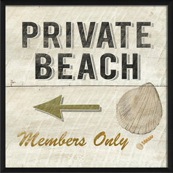 """Private Beach Members Only"" Print"
