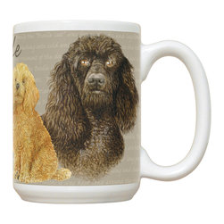470-Poodle Mug - 15 oz. Ceramic Mug. Dishwasher and microwave safe It has a large handle that's easy to hold.  Makes a great gift!