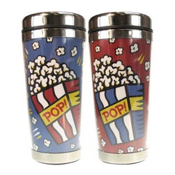 Westland - 7 Inch Popcorn Acrylic and Stainless Steel Travel Mug, 16 Oz. - This gorgeous 7 Inch Popcorn Acrylic and Stainless Steel Travel Mug, 16 oz. has the finest details and highest quality you will find anywhere! 7 Inch Popcorn Acrylic and Stainless Steel Travel Mug, 16 oz. is truly remarkable.