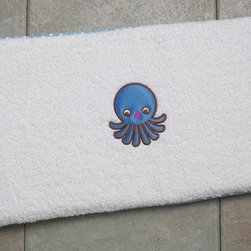 "Cushnee - Ultra-Soft Bath Kneeler with Octopus - The Cushnee Bath Kneeler cushions knees during nightly bath time chore making it more enjoyable for parent and child. Created by two mom's who were tired of sore knees every night the Cushnee Bath Kneeler is so comfortable moms and dads alike will never want to give a bath again without one. The secret is the Cushnee Bath Kneeler's durable water proof foam core which supports and cushions knees much better than rolled up towels or bath mats. The plush 100% cotton terry cloth cover also adds to comfort as well as absorbing splashed water and slipping off for easy machine washing. The Cushnee Bath Kneeler comes in four adorable animal designs or four sophisticated fabric designs. The Cushnee Bath Kneeler's stylish designs compliment any bathroom and make it a perfect baby shower gift. Features: -Style: Octopus. -Cushions knees make bath time chore more enjoyable. -Superior comfort and support versus rolled up towels or bath mats. -Durable water proof foam core. -Plush 100% cotton terry cloth cover slips off. -Great for absorbing splashed bath water. -Attractive presentation makes for a perfect baby shower gift. -Easy machine washing. -1 Year warranty. -Overall dimensions: 1.5"" H x 21"" W x 11"" D."