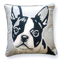 """Naked Decor - Boston Terrier Pillow - Size: 18""""x18"""""""