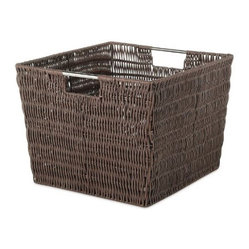 Whitmor 6500-1715 Rattique Storage Tote, Java