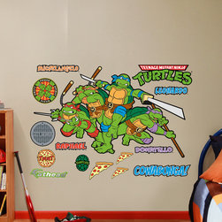 Fathead - Fathead Vinyl Wall Graphic - NICK TMNT Classic Group Shot RealBig