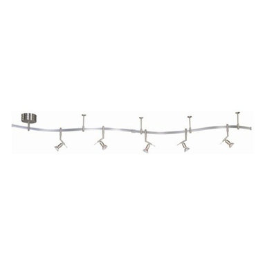 Kovacs - Kovacs GK P4035 5 Light Monorail Track Light Kit - Contemporary / Modern 5 Light Monorail Track Light KitWelcome to the new world of George Kovacs(R) lighting. GK LIGHTRAIL(R) systems represent a fresh approach to the concept of rail lighting systems. Our improved design offers all the options with a simple philosophy; make it easy. Let your imagination run wild as you invent new ways to light your home.GK LIGHTRAIL(R) are low voltage systems that offers you a complete line of components allowing you to create a lighting plan for any room in your home. It consists of flexible rail, a wide array of fixtures and glass, and a variety of transformers that will adapt to all lighting needs. A complete line of accessories are offered to allow your vision to come to light.Kit Includes: