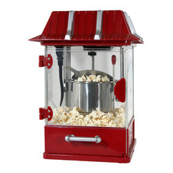 New Buffalo Corp. - Amerihome Tabletop Popcorn Popper - Be the hit of your home, church or office with the Amerihome Popcorn Popper. The compact tabletop design makes theater-style popcorn in 3 minutes for your family and friends. Make family movie nights more authentic, and meetings more fun at work. Nothing gets folks more excited than the smell of fresh popped popcorn. Always make enough to share.