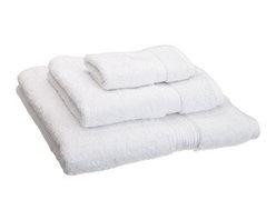 Luxurious Egyptian Cotton 900 Gram 3-Piece White Towel Set - Luxurious 900GSM 3-Piece White Towel Set