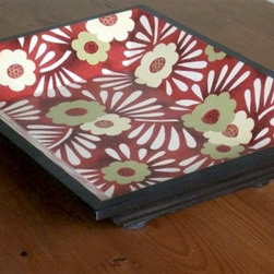 Dinner Serving Tray Hand Painted - Made by http://www.ecustomfinishes.com