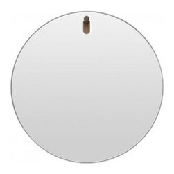 Blu Dot - Blu Dot | Hang 1 Round Mirror - Hang 1 in your entry. Hang 1 in your bathroom. Hang 1 in your bedroom. You get the idea. Smooth, radius-edged mirror  mounts on a playful solid walnut peg. Hang 1 Mirror is available in a variety of other sleek and stylish shapes.