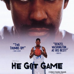 He Got Game 11 x 17 Movie Poster - Style B - He Got Game 11 x 17 Movie Poster - Style B Denzel Washington, Ray Allen, Milla Jovovich, Rosario Dawson, Hill Harper, Zelda Harris, Jim Brown, Ned Beatty, Lonette McKee, John Turturro, Michele Shay, Bill Nunn, Thomas Jefferson Byrd. Directed By: Spike Lee. Producer: Spike Lee, Jon Kilik, Touchstone Pictures, 40 Acres and a Mule Filmworks, Buena Vista.