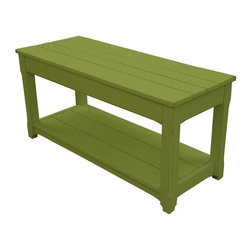 Trade Winds - New Trade Winds Bench Green Painted Hardwood - Product Details