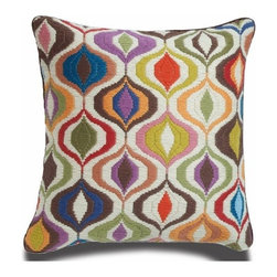 Jonathan Adler Bargello Waves Pillow - I am not only crazy about this throw pillow's funky pattern, but the color palette makes me want to buy this pillow and design an entire room around it. It's just that fabulous.