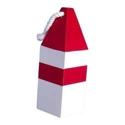 "Handcrafted Model Ships - Wooden Red Maryland Crab Trap Buoy 8"" - Decorative Wood Buoy - Classically themed and delightfully decorative, our Wooden Red Maryland Crab Trap Buoy 8"" is the perfect addition for your beach themed room. This red and white square wooden float hangs easily from your wall to accent your home or collection. Traditionally lobstermen would hand paint their own unique buoy to distinguish theirs amongst the many lobster trap buoys at sea. In upholding the spirit of the lobster buoy tradition, we offer a new or rustic finish, sizes of 7"", 8"", 15"" and 20"" and finally a range of colors such as: dark blue, orange, red, dark red, green, dark green, light blue, and yellow."
