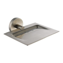 Kraus - Kraus Imperium Bathroom Accessories - Wall-mounted Brass Soap Dish Brushed Nicke - *Kraus offers an elite selection of bathroom accessories that are guaranteed to exceed industry trends and revolutionize your home into the modern marvel it is destined to be