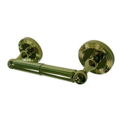 "Kingston Brass - Kingston Brass Polished Brass Georgian Toilet Paper Holder BA9318PB - Kingston Brass' bathroom accessories are built for long-lasting durability and reliability. They are designed so you can easily coordinate matching pieces. Each piece is part of a collection that includes everything you need to complete your bathroom decor. All mounting hardware is included and installation is easy. Manufacturer: Kingston Brass. Model:BA9318PB. UPC: 663370049453. Product Name: Toilet Paper Holder. Collection / Series: Georgian. Finish: Polished Brass. Theme: Classic. Material: Brass. Type: Accessories. Features: 2-1/2"" diameter bases. 8-5/8"" total length. Premium finish. Easy installation. All mounting hardware included."