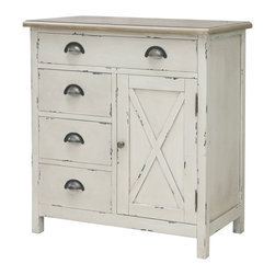 Amelia Rustic White Cabinet - Rustic styling with a modern flair. 4 ...