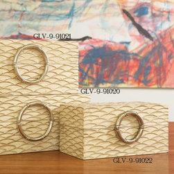 Global Views - Global Views Artisan White/Nickel Transitional Jewelry Box - Large X-02019.9 - Global Views Artisan White/Nickel Transitional Jewelry Box - Large X-02019.9