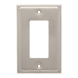 Liberty Hardware - Liberty Hardware 126363 Country Fair WP Collection 3.15 Inch Switch Plate - A simple change can make a huge impact on the look and feel of any room. Change out your old wall plates and give any room a brand new feel. Experience the look of a quality Liberty Hardware wall plate. Width - 3.15 Inch, Height - 4.9 Inch, Projection - 0.2 Inch, Finish - Satin Nickel, Weight - 0.14 Lbs.